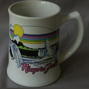 Vintage Niagara Falls Mug 1980's 1990's White